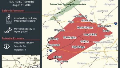 2:45 pm Weather Update All of Hunterdon County is now under a Flash Flood…
