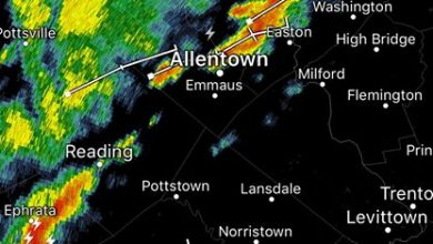 6:45 pm Weather Update A broken line of non-severe thunderstorms are making their way…