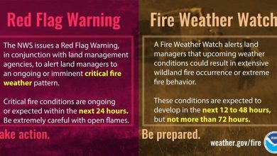 The National Weather Service has issued a Red Flag Warning for much of the…