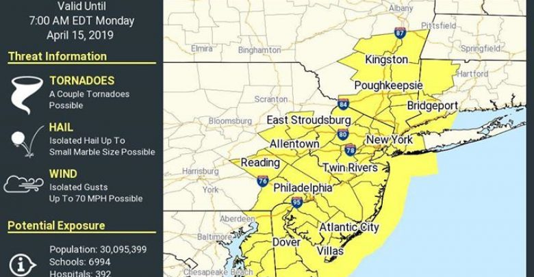 The National Weather Service has issued a Tornado Watch for our area until 7:00…