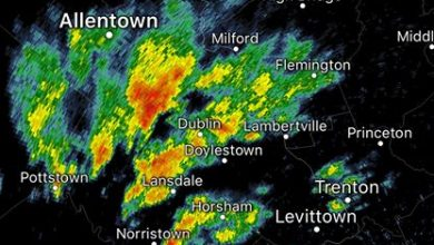 9:15 am Weather Update A cluster of heavy showers has formed across eastern Pennsylvania…